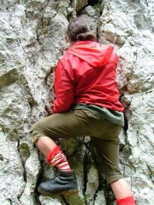 Raul - rock climbing at Cheile Rasnoavei